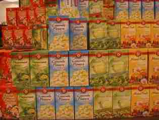 Large selection of teas